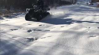 4. Epic Riding In Fresh Snow!! - Polaris Sportsman 570