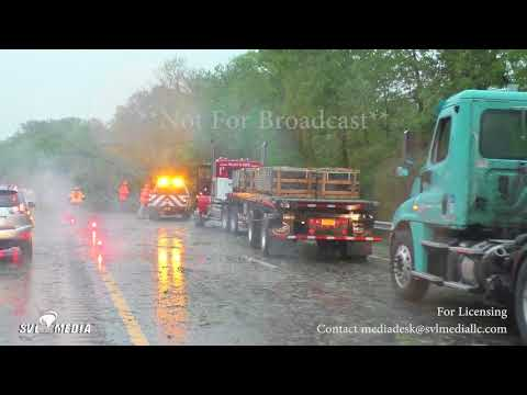 Newburgh, New York - 80mph Winds/Tornado Warned Cell/Trees Down With Major Traffic - May 15th, 2018