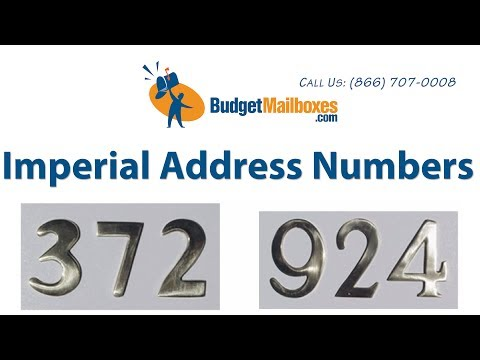 Budget Mailboxes | Imperial Address Numbers