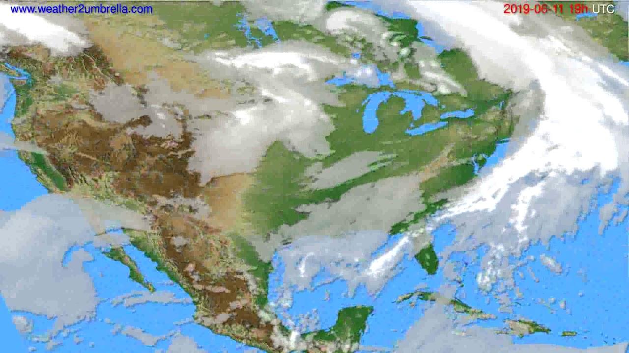 Cloud forecast USA & Canada // modelrun: 12h UTC 2019-06-08