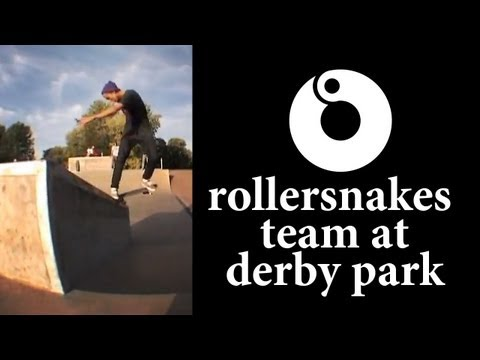 Rollersnakes Skate Team at Derby Skatepark.