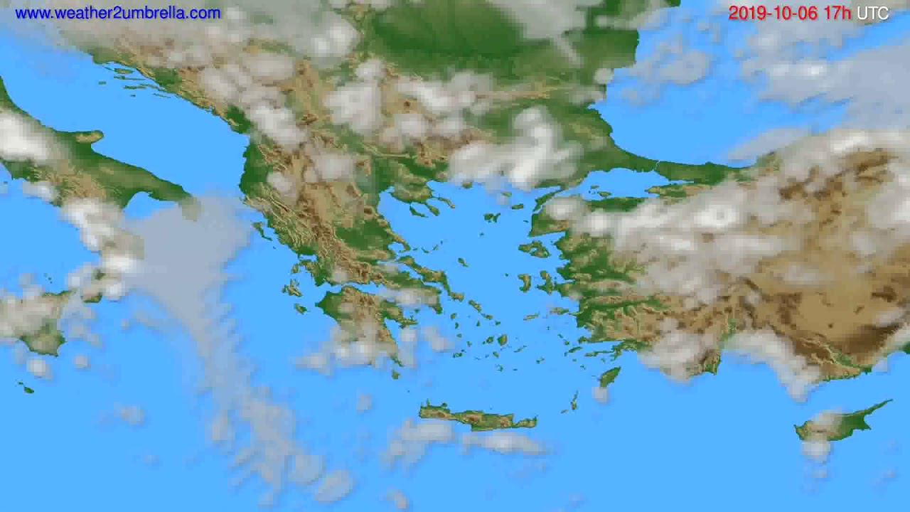 Cloud forecast Greece // modelrun: 00h UTC 2019-10-05