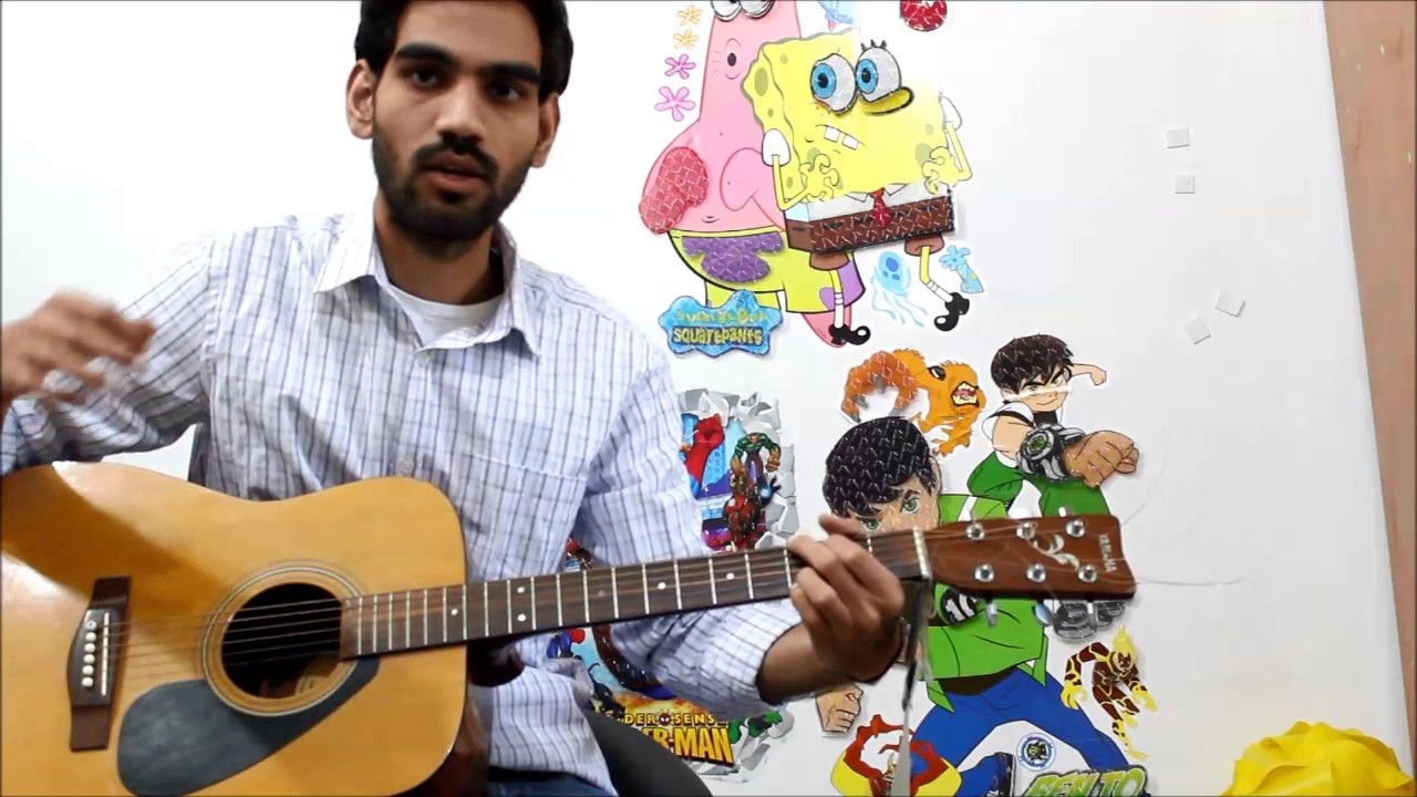 Just Down Strokes – Play Any Song On Guitar – No Strumming Required hindi lesson Bollywood
