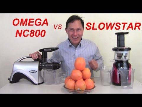 Omega NC800 vs Slowstar Juicer Comparison Review: Orange Juice