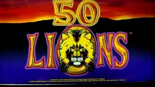 50 Lions delivers once again - I guess I should pay more attention to these machines before they go away.Thanks for viewing my video.  Please hit that LIKE button, leave a comment and subscribe to my channel.  Red Hawk Casino; Shingle Springs, CA