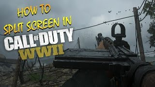 HOW TO SPLIT SCREEN IN WWII MULTIPLAYER, NAZI ZOMBIES & LOCAL PLAY ON PS4 & XBOX ONE (COD WW2)