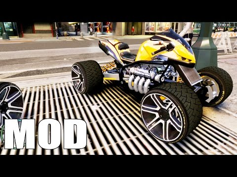 Grand Theft Auto IV – Added Modified Cars Pack [MOD] and improvised crash test