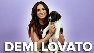 Video Demi Lovato Plays With Puppies (While Answering Fan Questions) MP3, 3GP, MP4, WEBM, AVI, FLV Februari 2018
