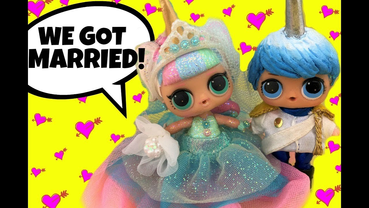 Picture of LOL Doll Unicorn Blue Buy Married inside this Appealing Marriage Working day Doll Tale Fresh Boy GG Customized much too