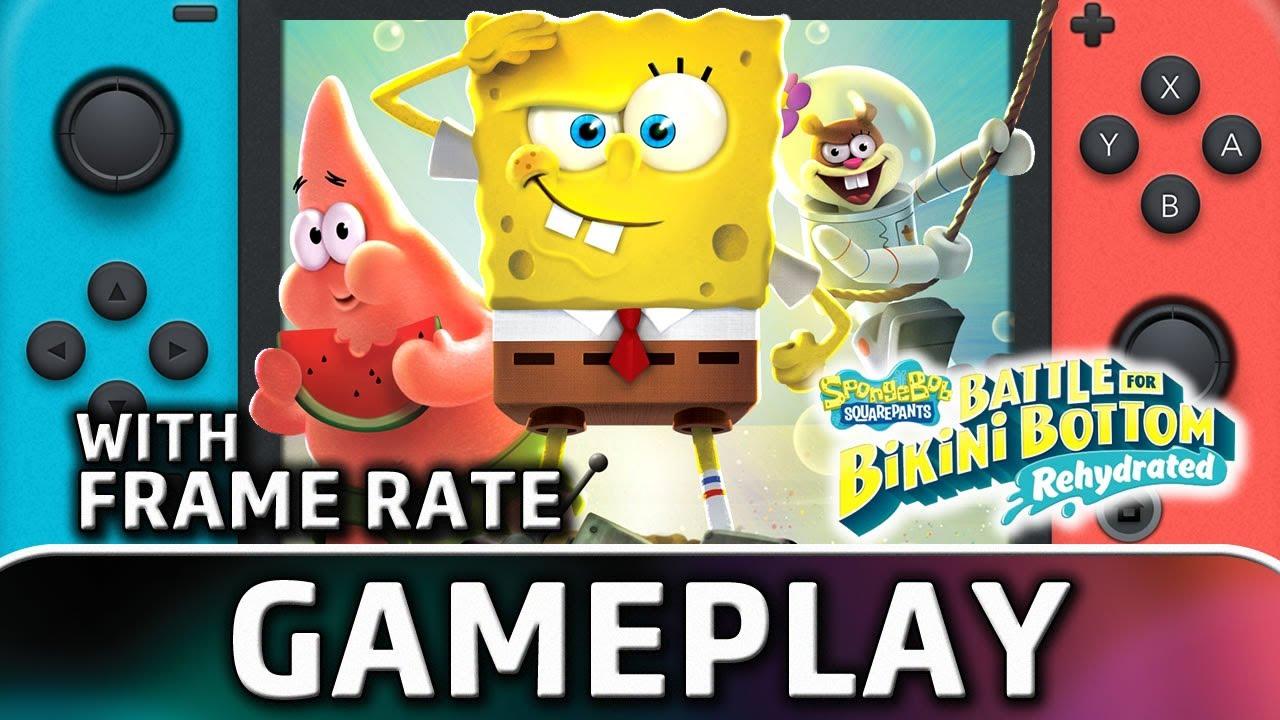 Spongebob SquarePants: Battle for Bikini Bottom – Rehydrated | Nintendo Switch Gameplay and Frame Rate