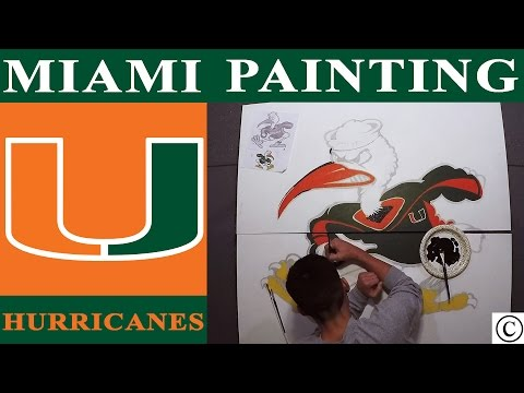 Miami Hurricanes Logo PAINTING