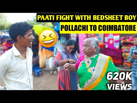 Pollachi to Coimbatore🚗🛣️ | Patti fight with Bedsheet boy🤣