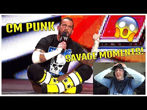 NON WWE FAN REACTS TO CM PUNK'S MOST SAVAGE MOMENTS!