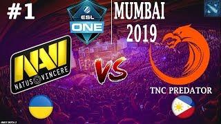 БИТВА за ВЫХОД в ПЛЕЙОФФ! | Na'Vi vs TnC #1 (BO3) | ESL One Mumbai 2019