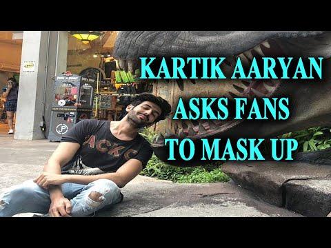 Kartik Aryans witty demo of how corona slides into unmasked faces