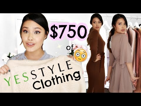 $750 OF CLOTHING FROM YESSTYLE HAUL   QUALITY REVIEW + TRY-ON!