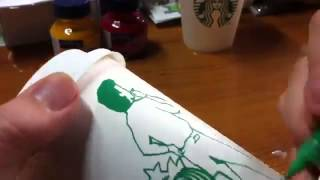 STARBUCKS Cup Art Four Seasons