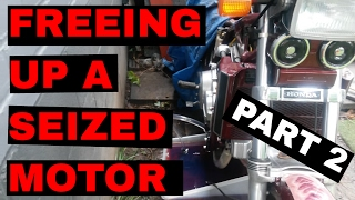 5. Freeing up a seized motor in a 1985 Honda VF1100 Sabre (V65) 2/2