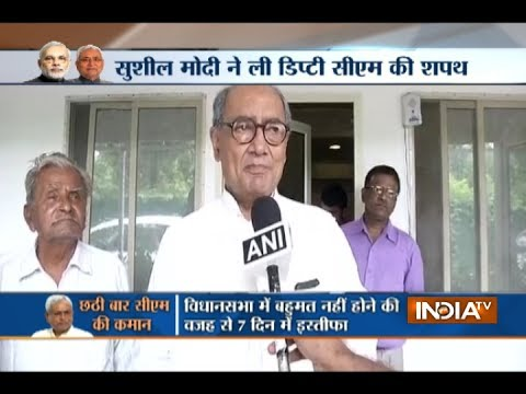 Nitish Kumar has cheated people of Bihar for his own political motive: Digvijay Singh