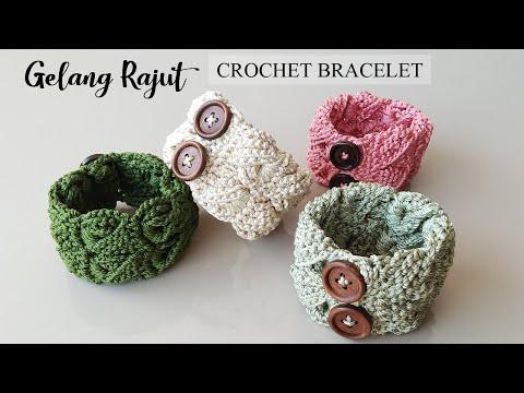 CROCHET : Gelang Rajut ~ Crochet Bracelet Simple And Easy