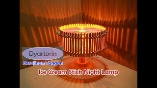 Video How to make ice cream stick night lamp | popsicle stick art and craft MP3, 3GP, MP4, WEBM, AVI, FLV November 2018