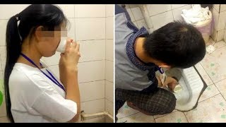 Video WTF !! Company Punishes Employees by Forcing Them to Drink Toilet Water due to Poor performance MP3, 3GP, MP4, WEBM, AVI, FLV Juli 2018