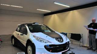 Wrapping Accent racing team Peugeot 207 S2000 Wrapping 3M vinyl foil 2design bvba Roeselare