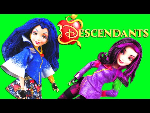 Disney Descendants Movie New Dolls! Frozen Elsa & Anna with daughters of Maleficent & Evil Queen
