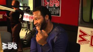 "Jaheim stops by ""Middays with Shaila"" at the WBLS 107.5 studio"