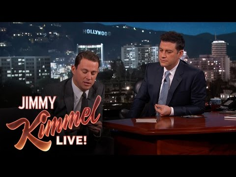 CHANNING TATUM - Channing reveals the winners of the Team Oscar competition. SUBSCRIBE to get the latest #KIMMEL: http://bit.ly/JKLSubscribe Watch the latest Halloween Candy Prank: ...