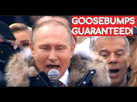WATCH And LISTEN: Putin Sings Russian National Anthem With 130,000 People!