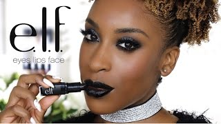 One Brand Tutorial: E.L.F. Full Face Glam Makeup Look by Jackie Aina