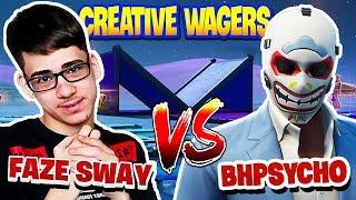 FAZE SWAY VS BH Psycho | 1v1 Creative wagers for $3000