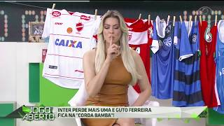 A apresentadora não aprova as modificações do técnico Guto Ferreira e o elege como responsável pelas derrotas diante do CRB e Vila Nova.