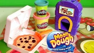 Disney Collector presents Moon Dough Pan Pizza Pizzeria Playset. Create magical pizzas in 3 easy steps. Pop the dough in ...