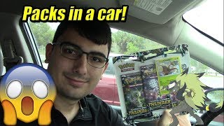 Pokemon Lost Thunder Pack Opening IN A CAR!?! by The Pokémon Evolutionaries