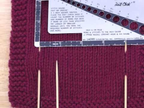how to gauge in knitting