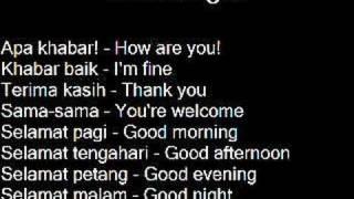 Learn a Language: Malay (Bahasa Melayu)