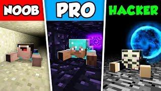 Minecraft NOOB vs PRO vs HACKER : SECRET TUNNEL CHALLENGE in Minecraft Animation!