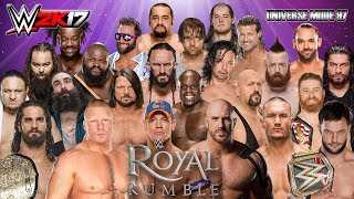 Nonton Royal Rumble Match     Wwe 2k17   Universe    97 Film Subtitle Indonesia Streaming Movie Download