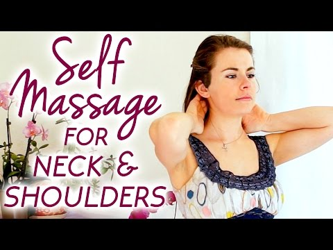Self Massage for Neck Pain, How to Massage Your Own Neck, Soft Spoken ASMR with Relaxing Music
