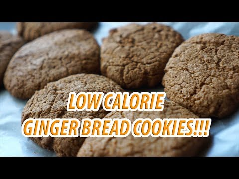 LOW CALORIE GINGERBREAD COOKIES