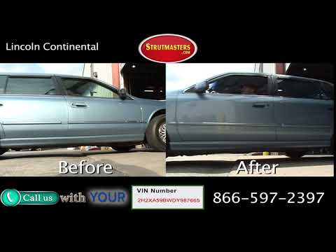 Lincoln Continental Before and After Suspension Conversion