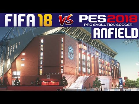 FIFA 18 VS PES 2018 Graphics Comparison: Anfield