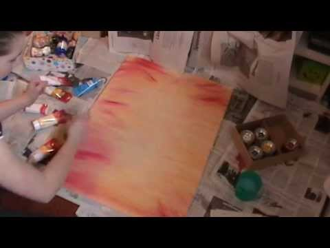 How to paint a backround – Hintergrund malen (ACRYL PAINTING)