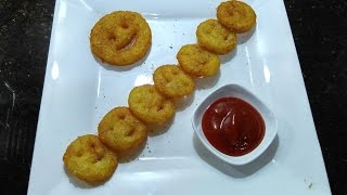Smiles Cutlet/potato smiley cutlet/snacks/how to make Home Made smiley/kids snacks recipe#130