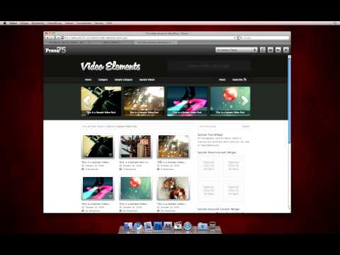 WordPress-Theme: Video Elements