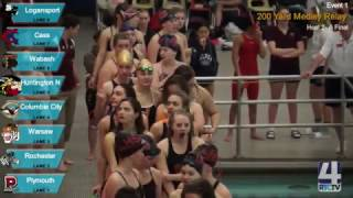 IHSAA Girls Swimming Diving Finals @ Warsaw High School