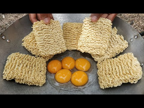 Tasty Yellow Noodle Fried Eggs Recipe / Kdeb Cooking