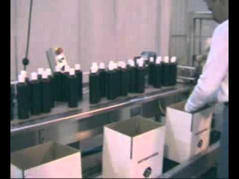 2-EZ HS Ergopack Shampoo Bottle Recirculating Conveyor Case Erector High Sp
